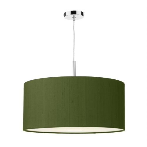 Ellington 50cm Pendant Light Chrome with Shade (choose colour) ELL15 (Hand made, 10-14 day Del)